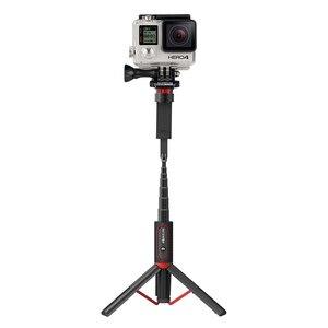 Image 3 - BlitzWolf BW BS10 Sport All In One portátil bluetooth Tripé Selfie Stick Monopé para Gopro 7 6 5 Sports Action 1/4 Screw View titular para seu celular tripé para smartphone para HUAWEI