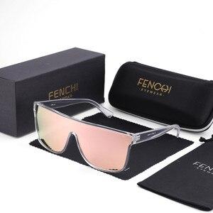 Image 1 - FENCHI NEUE Sonnenbrille Frauen Männer Schwarz Driving Windschutz Übergroßen Weiblichen Sonnenbrille Brille Zonnebril Dames Oculos Feminino