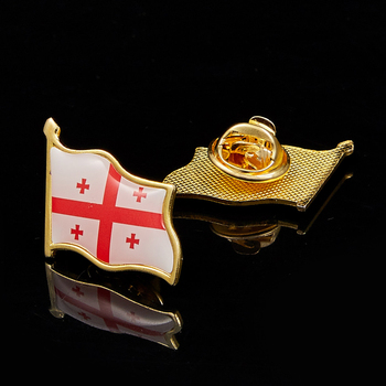 Georgia Lapel Pin Safety Pins Country Flag Badge Brooch Custom For Men Brooches