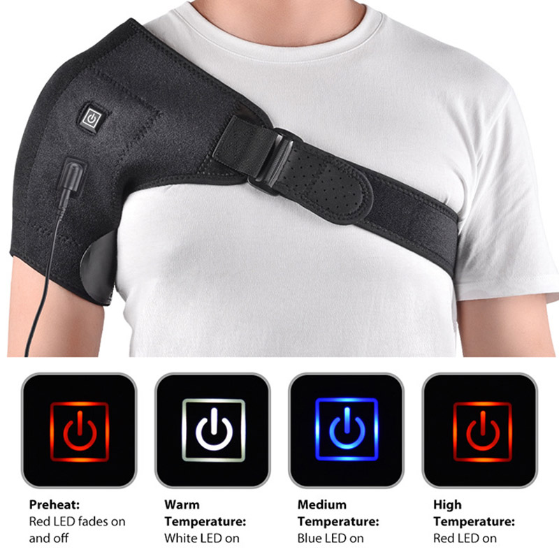 Electric Heat Relief Adjustable Shoulder Brace Back Support Belt Shoulder Injury Pain Relieve Wrap Best Sale-WT