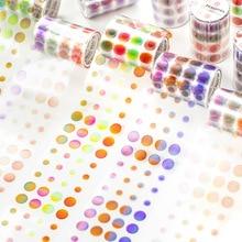 Adhesive-Tape Stationery 60mm--3m Gradients-Sticker Account School-Supplies Fresh Pet-Dot