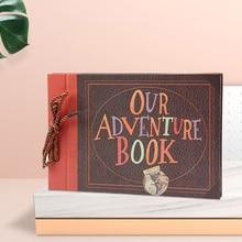 Photo Album Our Adventure Book Scrapbook Gift DIY Handmade Movie Up Family Travel Anniversary Wedding