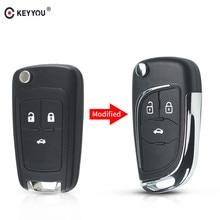 KEYYOU для Chevrolet Cruze Lova Aveo Epica дистанционный ключ оболочки модифицированный Флип складной cRemote ключ чехол HU100 лезвие 2 3 4 5 кнопки