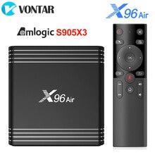 X96 Không Android 9.0 TV Box Amlogic S905X3 4GB 64GB 32GB 2.4G & 5G Dual wifi BT4.1 H.265 4K 8K 24fps GB RAM 16GB Set Top Box X96Air