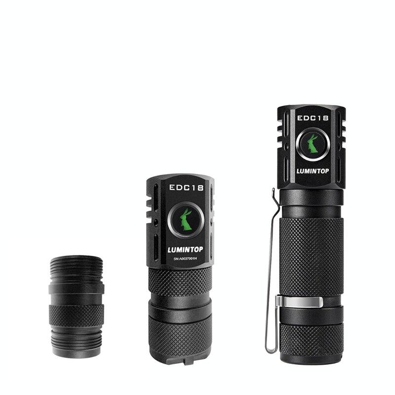 DIY Spare 18350 Body Tube For LUMINTOP EDC18 LED Flashlight,18650 Battery Tube Flashlight Torch Lantern Accessory