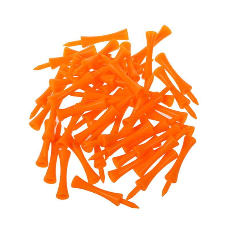 50pcs 70mm Big Castle Golf Tees (Orange)