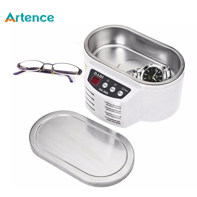 Artence Mini Smart Ultrasonic Cleaner Stainless Steel Ultrasound Wave Washing For Jewelry Glasses Ultrasonic Washing Machine