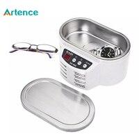 Artence Mini Smart Ultrasonic Cleaner Stainless Steel Ultrasound Wave Washing for Jewelry Glasses Ultrasonic Washing Machine
