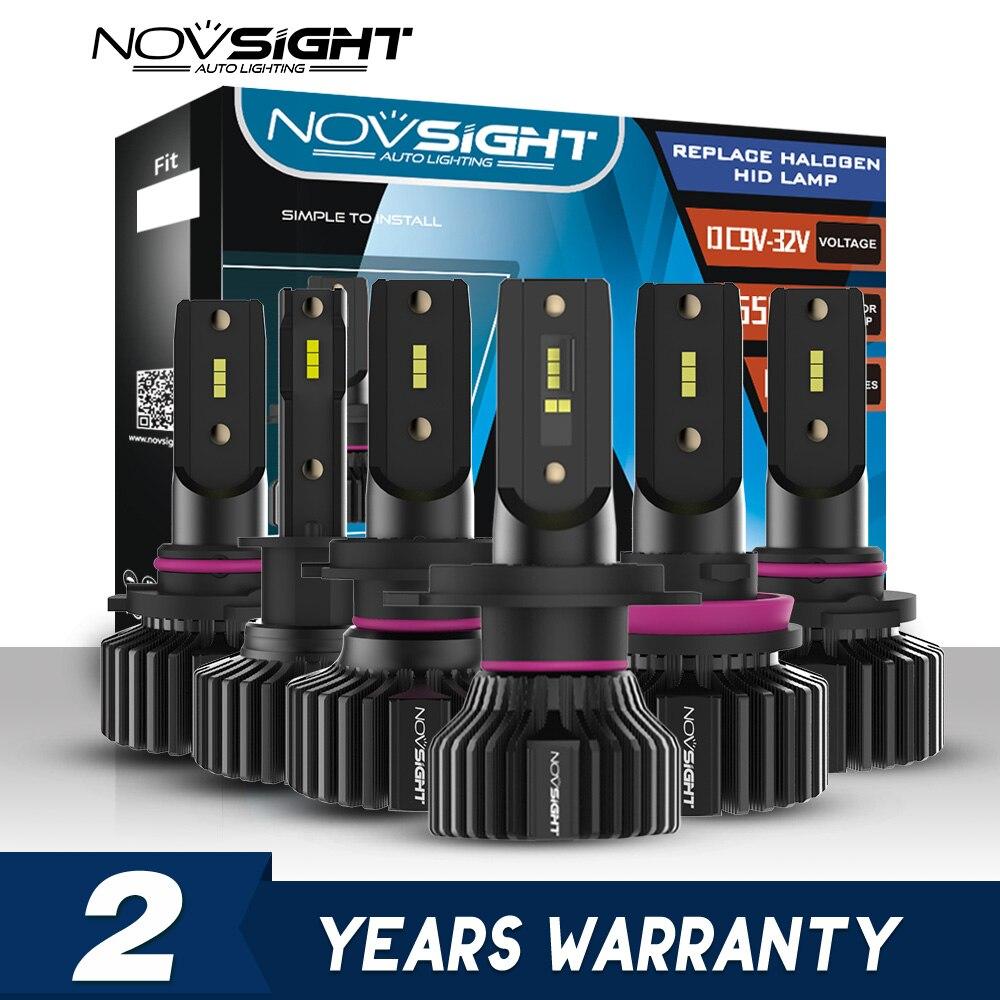 NOVSIGHT Mini Car H4 LED H7 Led Headlight Bulbs H1 H8 H11 LED Lamp H7 12v 24v 9005 HB3 9006 HB4  Auto Headlamps Fog Lights Kit