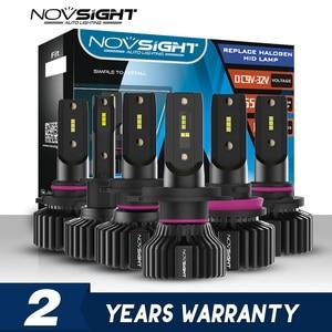 Image 1 - NOVSIGHT Mini Car H4 LED H7 led Headlight Bulbs H1 H8 H11 LED Lamp H7 12v 24v 9005 HB3 9006 HB4  Auto Headlamps Fog lights Kit