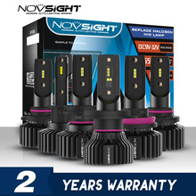 NOVSIGHT Mini H4 LED H7 Led Bóng Đèn Pha H1 H8 H11 LED H7 12V 24V 9005 HB3 9006 HB4 Tự Động Đèn Pha Đèn Sương Mù Bộ