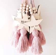 Деревянные поделки милые кисточки подвесное украшение для детской