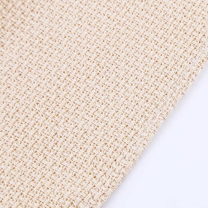 Ręcznie robiony Tassel serwetka przędza bawełniana barwiona ścierka do naczyń solidna strona główna wesele kubek kuchenny naczynia serwetki styl skandynawski
