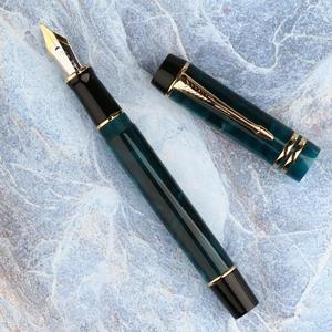 Image 4 - Moonman dispositivo M600S para práctica de llenado al vacío, doble Color, iridio, Punta fina, oficina, regalos para el hogar, pluma estilográfica, tinta lisa
