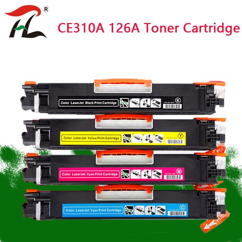 CE310 CE310A  313A 126A 126 Compatible Color Toner Cartridge For HP LaserJet Pro CP1025 M275 100 Color MFP M175a M175nw Printer Toner Cartridges     - title=