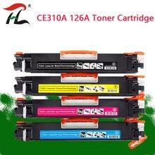 Ce310 ce310a 313a 126a 126 hp 레이저젯 프로 cp1025 m275 100 컬러 mfp m175a m175nw 프린터 용 호환 컬러 토너 카트리지