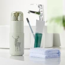 5pcs Travel Toothbrush Case Storage Box Bathroom Tumblers Wash Cup Portable Holder Organizer Accessories Set