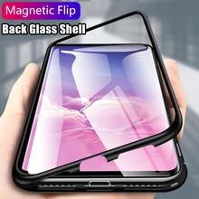 Металлический магнитный адсорбционный чехол для samsung Galaxy Note 10 S8 S9 S10 Plus S10E S7 Edge Note 8 9 A50, закаленное стекло, Магнитная крышка