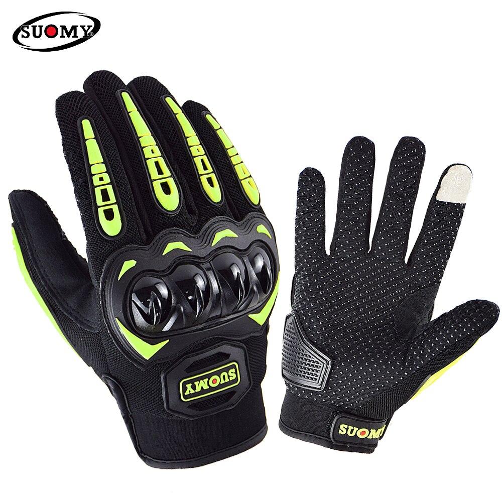 Летние дышащие Мотоциклетные Перчатки SUOMY SU33, гоночные перчатки для езды на мотоцикле, мотокроссе, мотоциклетные перчатки с закрытыми пальц...