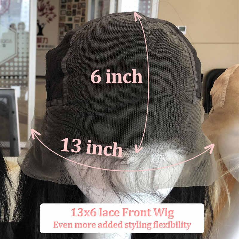 13x6 الدانتيل شعر مستعار أمامي للنساء السود موجة شعري الطبيعي البرازيلي خصلات شعر طبيعي قبل التقطه شعري 130% 150% 180% الكثافة