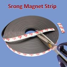 Silny elastyczny magnes taśma samoprzylepna taśma magnetyczna gumowa taśma magnetyczna długość 39.37 cala