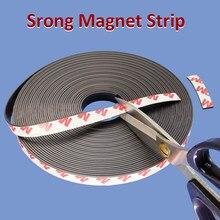 Faixa flexível forte do ímã fita magnética autoadesiva de borracha fita magnética comprimento 39.37 polegadas