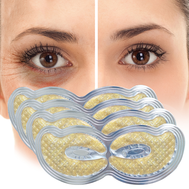 1pair Gold Crystal Collagen Eye Mask Eye Patches Masks Dark Circles Pathces Around Eyes Masks Moisturizing Face Care Mask