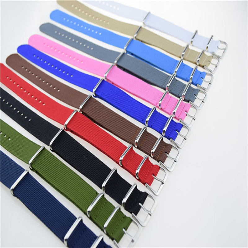 New 22mm Brand New Sports Fabric Nylon Watchband Accessories Bands Buckle Belt For 007 James Bond Watch Strap Black