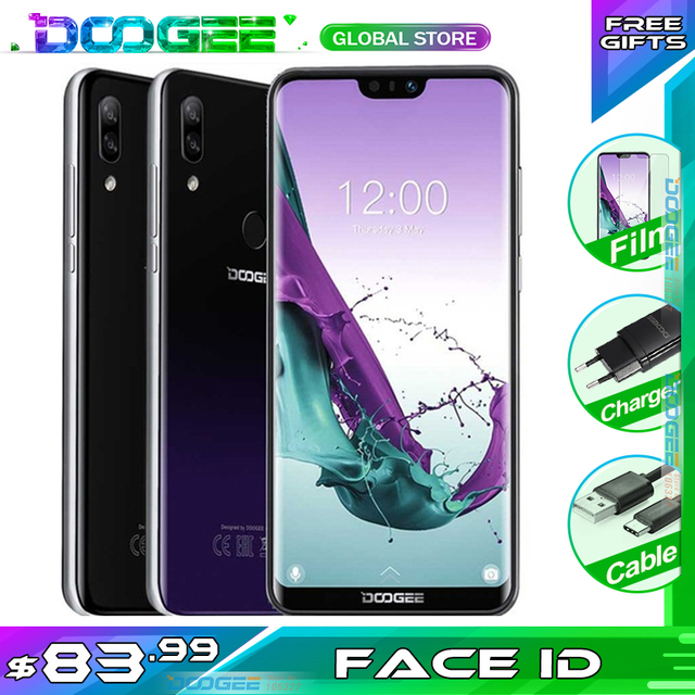 Doogee N10 携帯電話 3 ギガバイトのram 32 ギガバイトrom 5.84 インチfhd + 19:9 ディスプレイ 16.0MPカメラ 3360 mah 4 glteスマートフォン