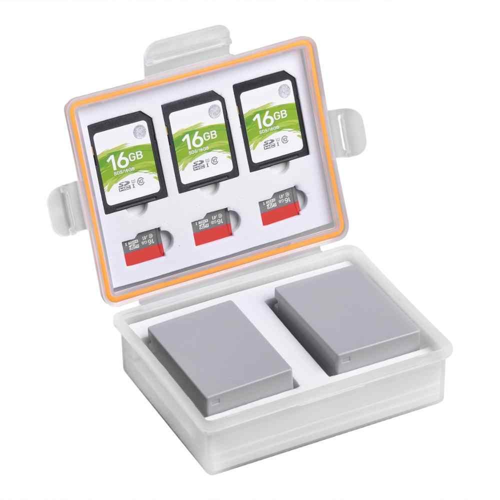 كاميرا صندوق بطارية تخزين SD TF غلاف بطاقة ذاكرة لكانون LP-E17 LP-E12 سوني NP-FW50 NP-FV50 Fuij NP-W126 بطاريات الحاويات