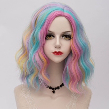 Cosplay Wig Rainbow Grey Party White Purple Blue Synthetic-Hair Black Ombre 19-Colors