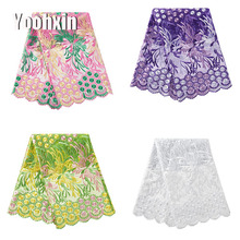 High quality african flower lace fabric Embroidered 5 yards lace fabric sewing DIY trim applique Ribbon guipure dress craft high quality african flower lace fabric embroidered lace fabric sewing diy craft trim ribbon dress guipure accessory 1 yard