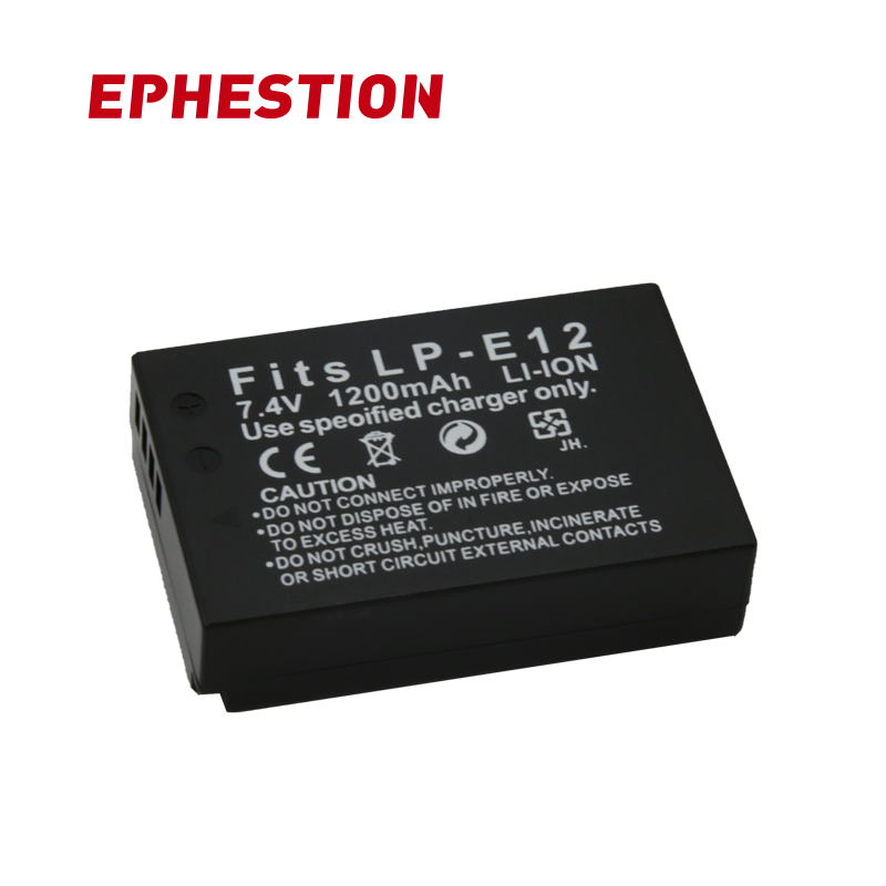 EPHESTION LP-E12 LPE12 LP E12 Camera <font><b>Battery</b></font> For <font><b>Canon</b></font> EOS M10 Kiss X7 Rebel SL1 EOS <font><b>100D</b></font> DSLR <font><b>Battery</b></font> L10 High Capacity image