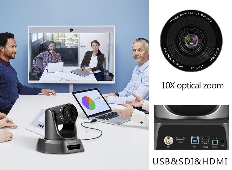 [Estoque da ue] livre de impostos nv10a 10x zoom 2mp 1080p ptz câmera de vídeo conferência usb 3g-sdi e hdmi 3 saídas para transmissão multimídia-3