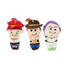15cm juguete de peluche de Woody Buzz Lightyear Jessie de dibujos animados de peluche de colgantes de peluche de felpa juguetes de la muñeca