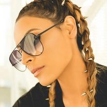 Gafas De Sol clásicas y clásicas para mujer, anteojos De Sol femeninos De diseñador De marca De lujo, a la moda, con gradiente De aviación, color negro