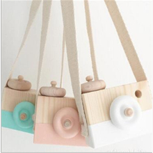 Wooden Toys Room-Decor Hanging Gift Nordic Kid Cute for 10--8--5.5cm Articles Furnishing