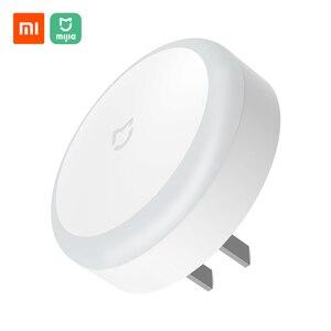 Image 1 - Xiaomi Mijia התוספת לילה אור תחושת אינדוקציה רך אור תקע חיישן אור לישון לילה מנורת חיסכון באנרגיה לילה אור 220V