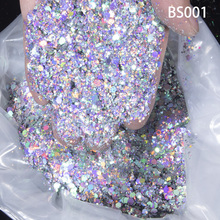 1000g/1KG Factory Supply Chunky Glitter Nail Sequins Costmetic Paillette Flakes Chameleon Laser Shiny Powder Craft Decorations