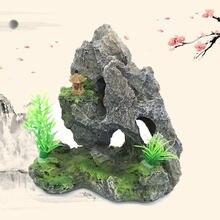 Аквариумная рокерная горная пещера камень Дерево Рыба аквариумное