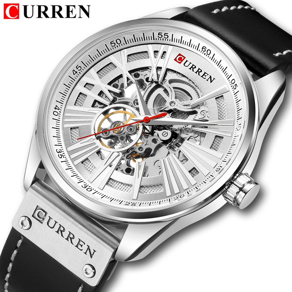 Hollow Automatic Mechanical Watches Men Fashion Luxury Brand Analog Watch Men's Waterproof Creative Wristwatch Relogio Masculino-in Mechanical Watches from Watches    2