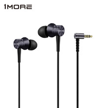 1MORE Piston Fit In Ear Earphone Aluminium Alloy Kevlar Fiber Aerospace Metal Diaphragm with Microphone 45 degree eartips