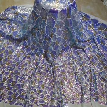 FashioNew Design African Lace Fabric For Wedding Dress High Quality French Lace Fabric With sequins Fashion Nigerian Lace Fabric