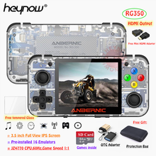 """HEYNOW RG350 Retro spielkonsole HDMI Ausgang 3.5 """"IPS Bildschirm 10000 + Spiele 18 Emulator Linux System Handheld Spiel player Beste Geschenk"""
