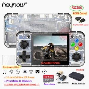 """Image 1 - HEYNOW RG350 Retro spielkonsole HDMI Ausgang 3.5 """"IPS Bildschirm 10000 + Spiele 18 Emulator Linux System Handheld Spiel player Beste Geschenk"""