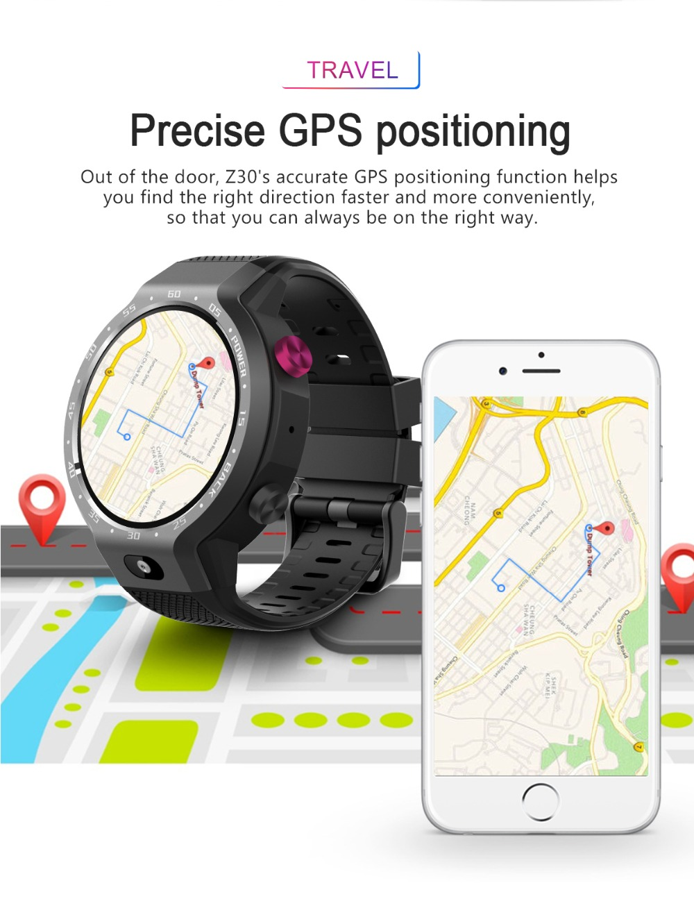 TORNTISC Z30 Dual Systems 4G Smart Watch phone Android 7.1 5MP Front Camera 600Mah Battery Support GPS WIFI Heart Rate Smartwatch PK LEM9 Presale (8)