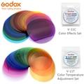 Godox V-11C или Godox V-11T Цвет фильтры для AK-R16 или AK-R1 совместимый для уличной вспышки Godox V1 V1C V1N V1S V1F фотовспышка