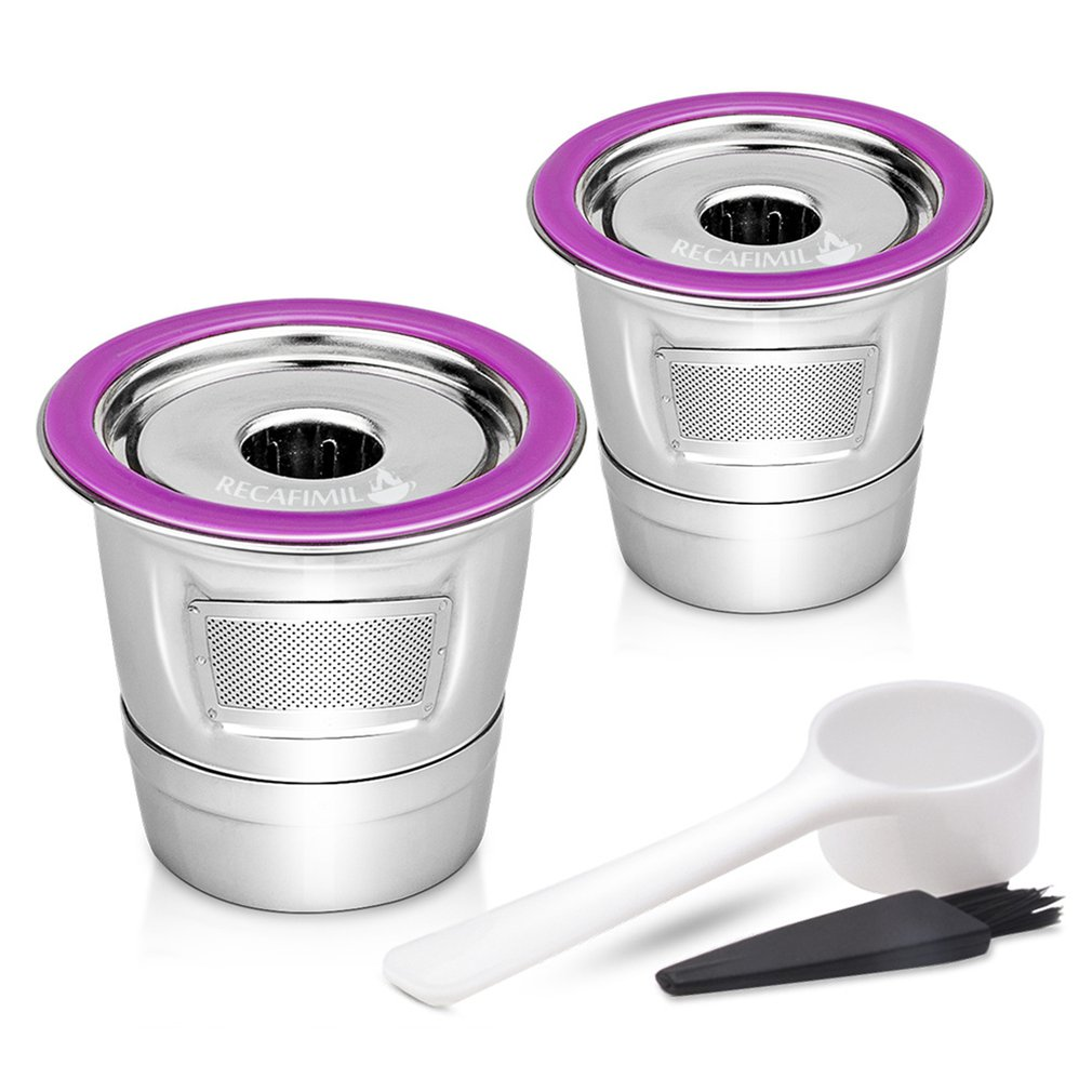 Stainless Steel Coffee Filter K Cup Baskets Reusable Coffee Capsules Dripper Compatible With Keurig 1.0 & 2.0 Brewers
