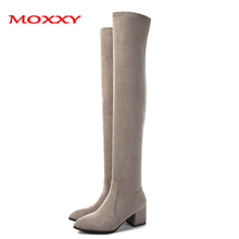 women winter boots stretch fabric fashion high heels women s boots elegant over the knee long boots winter boots 2019 Sexy Thigh High Boots Platform Winter Boots Women Shoes Stretch Over the Knee Boots High Heels Suede Red Grey Long Boots