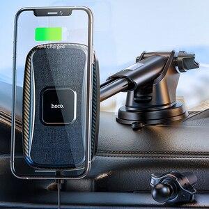 Image 1 - HOCO автомобильное Qi Беспроводное зарядное устройство 15 Вт Быстрая зарядка подставка для iPhone 12 pro Max 12 Мини Автомобильный держатель для телефона магнитное крепление на вентиляционное отверстие